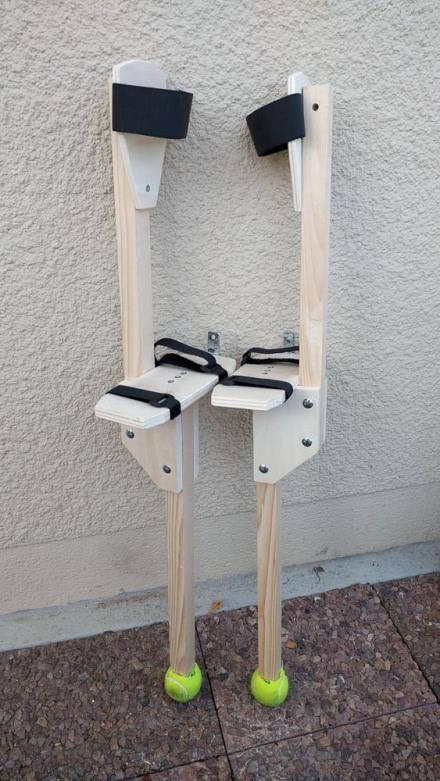 fabriquer des échasses en bois